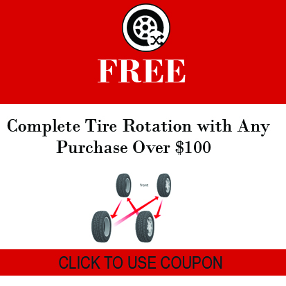 free tire rotation with purchase over $100